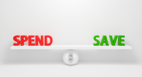 balance between saving, investing and spending
